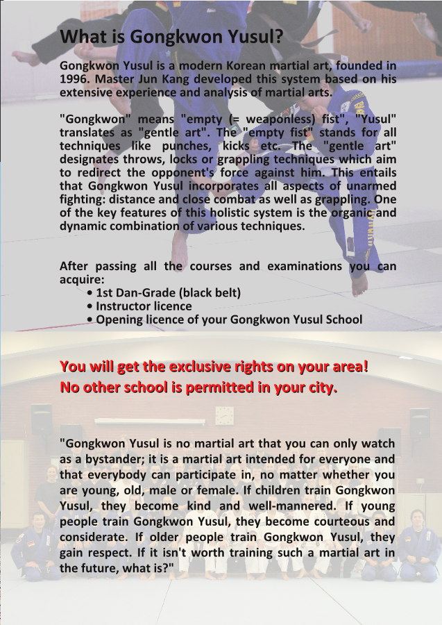 Martial Arts Gongkwon Yusul Instructor Courses 2
